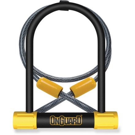 Fitness The OnGuard Bulldog DT U-lock comes with a 4 ft. fully coated, braided steel cable for extra locking options when it comes time to secure your beloved bicycle. - $23.93