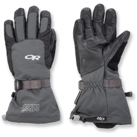 Snowboard Completely waterproof, the Outdoor Research Ambit(TM) gloves keep your hands warm and dry and will work with your touch-screen smartphone. - $51.73