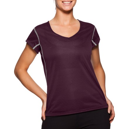 Designed to keep you cool and fresh even as you work up a sweat, the SportHill Olympia T-shirt offers soft, breathable and odor-resistant comfort. Lightweight polyester wicks moisture and dries quickly, providing high-performance breathability with a soft texture. Embedded antimicrobial X-Static (R) silver fibers minimize odor and reduce static cling. Closeout. - $12.73