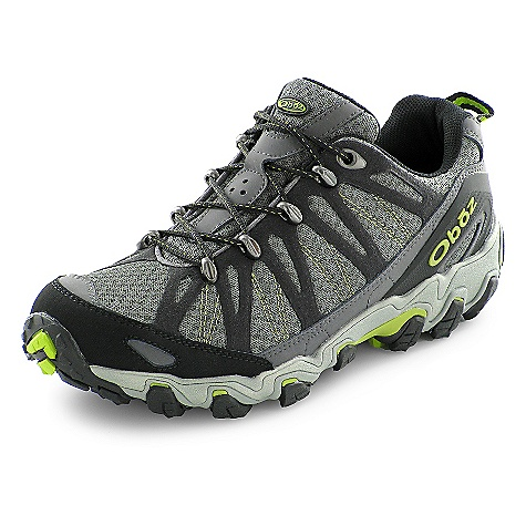 Camp and Hike Free Shipping. Oboz Men's Traverse Low Shoe DECENT FEATURES of the Oboz Men's Traverse Low Shoe Synthetic Leather and High Abrasion Resistant Textile Welded Stitchless Synthetic Micro-Suede Cage TPU Heel Counter Metal Lace Hardware BFit Deluxe Dual Density EVA TPU Chassis Nylon Shank Granite Peak Outsole The SPECS Weight: 1/2 pair: 16.6 oz - $125.00