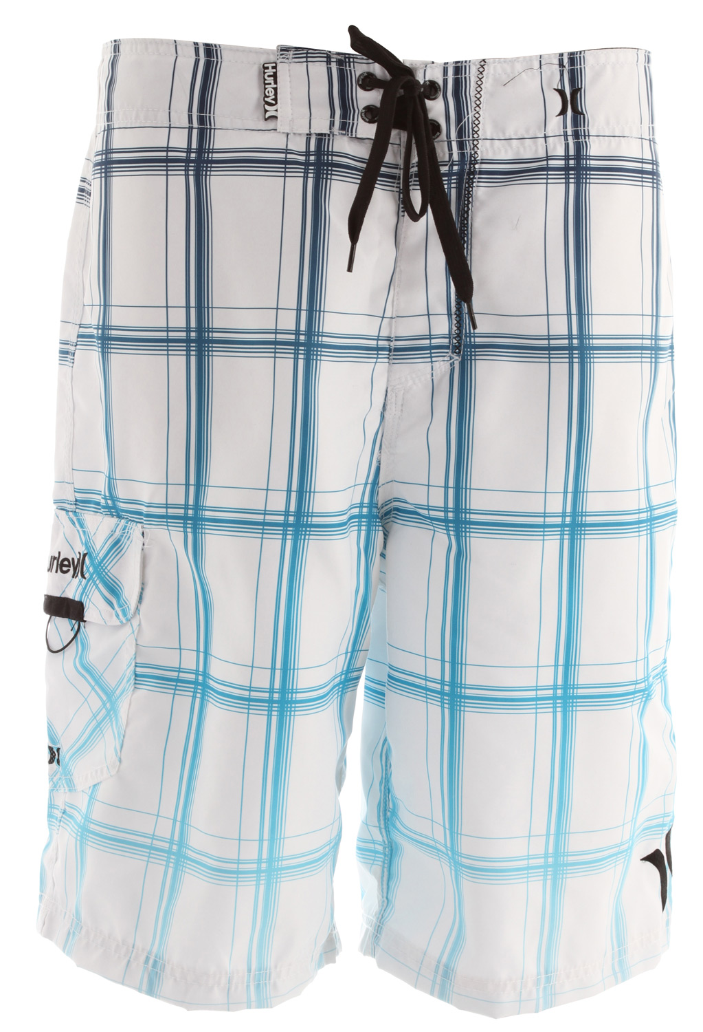 Surf Key Features of the Hurley Puerto Rico Blend Boardshorts: 22 Outseam Recycled Supersuede Patented EZ fly closure, embroidered logos, patch pocket with Velcro flap - $36.95