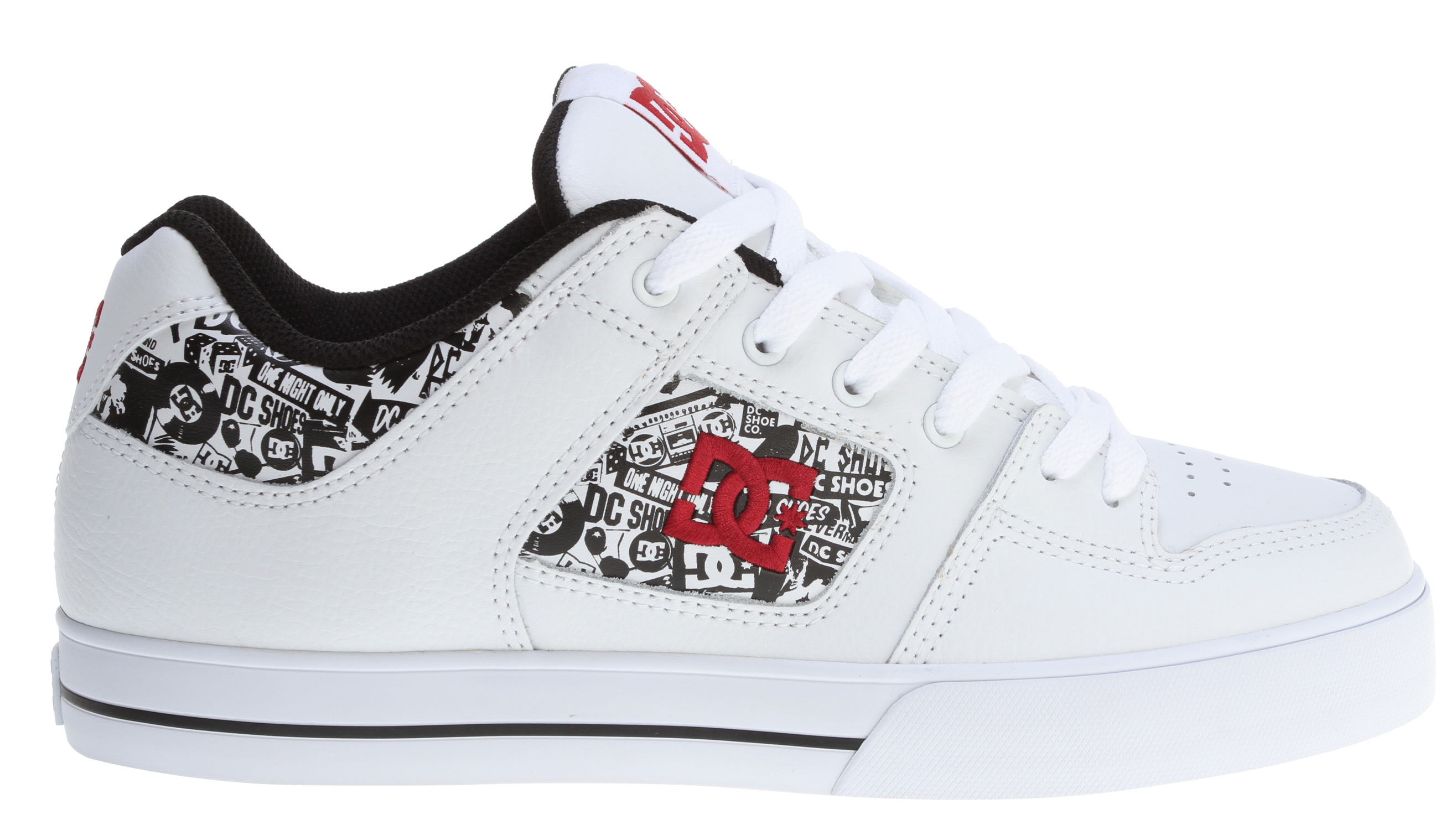 Skateboard Key Features of the DC Pure XE Skate Shoes: Heavy duty suede upper Soft resilient action leather Eyelets on medial side Metal eyelets and lace locks Foam padded tongue and collar Innovative DGT rubber bottom design for enhanced board control, feel, and durability Rubber toe wrap - $38.95