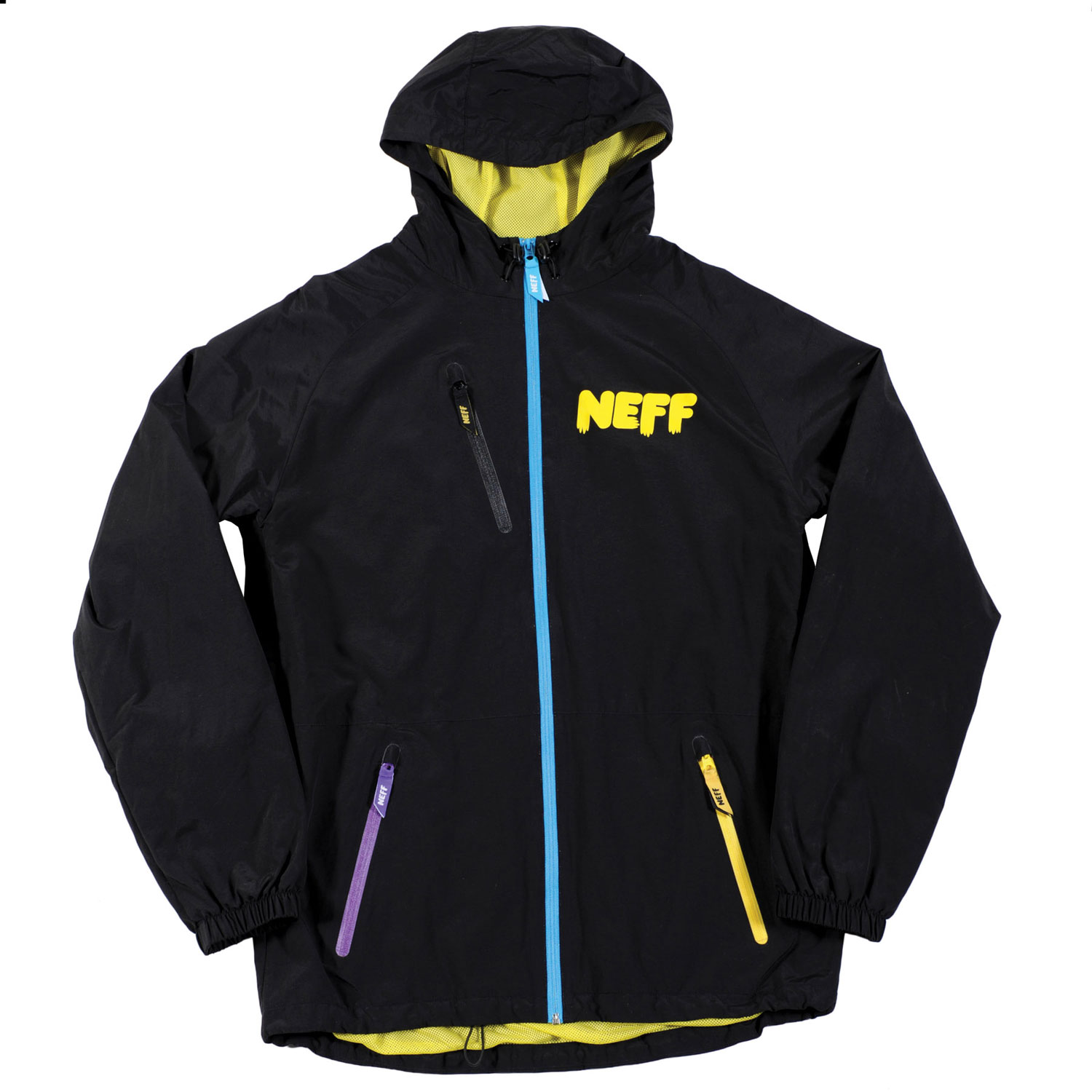 Snowboard Key Features of the Neff Sno Poncho Jacket: 5,000mm Coating 100% Polyester Adjustable hood and waist Stretchy wrist gaiters Laser cut weather proof zippers with Custom tabs Polyester mesh liner Pit Zips - $62.95