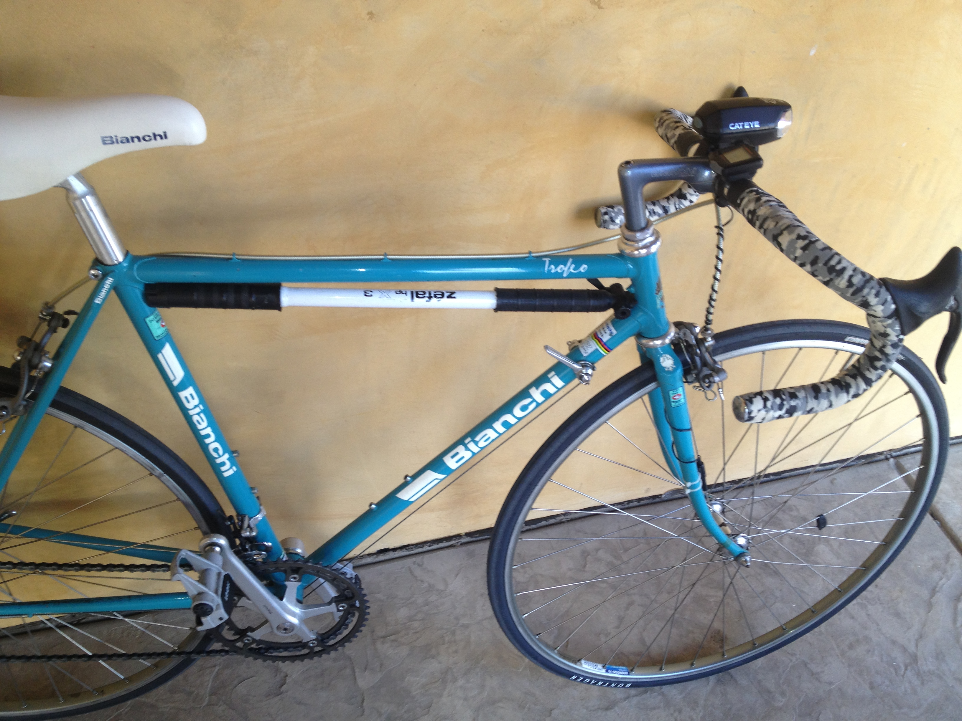 Fitness 197? Bianchi Trofeo, All Original Steel Frame