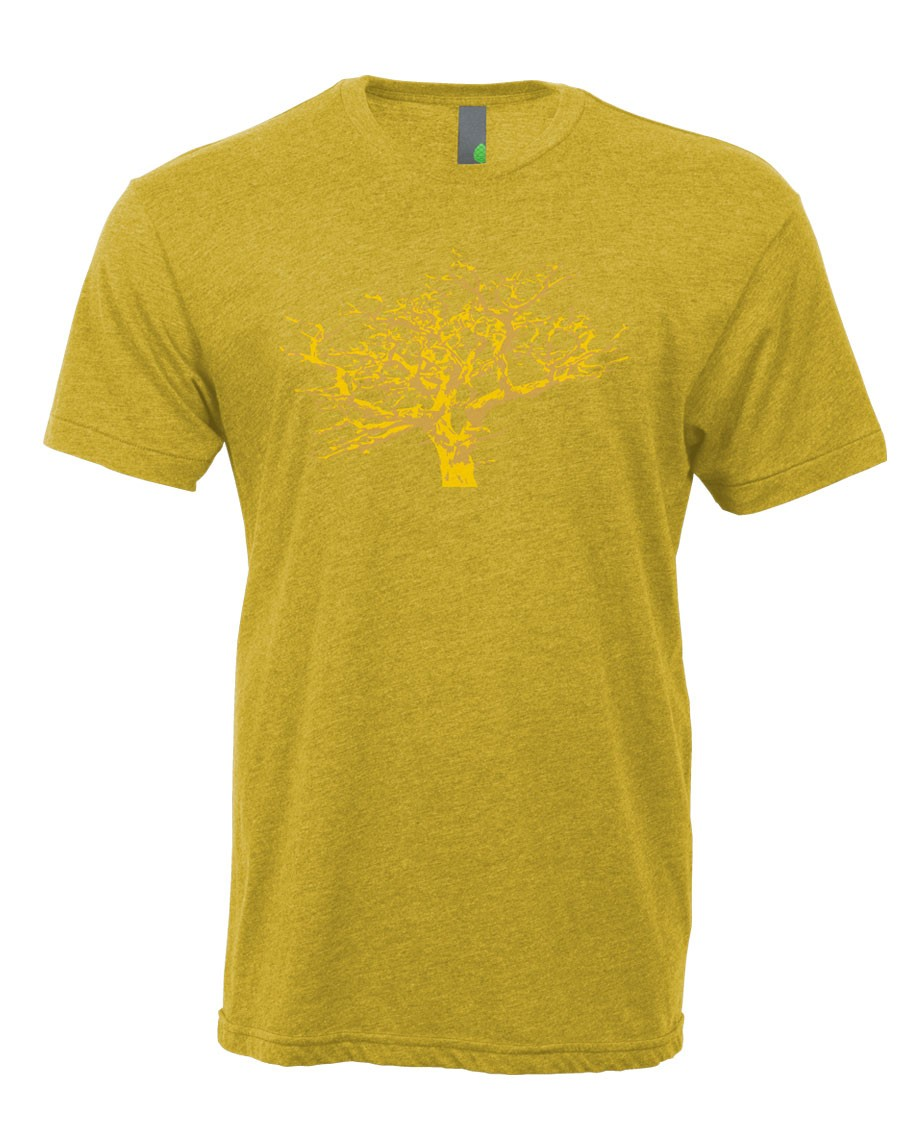 Camp and Hike A custom illustration of the majestic Whitebark Pine is printed on our soft, and perfectly broken blended cotton tee with a modern fit that dresses up or down. 20% of the profits from this tee will go towards the protection and restoration of this endangered and majestic tree. - $21.00