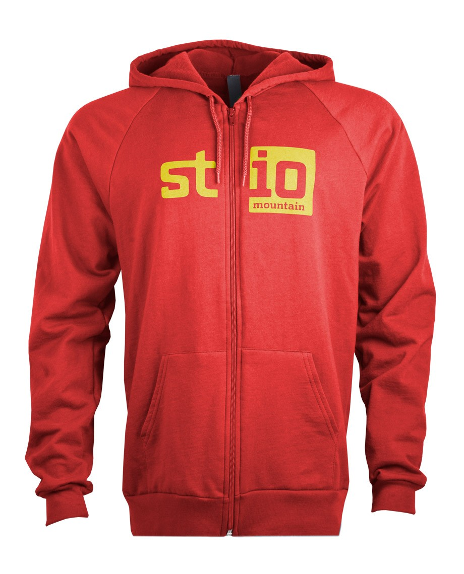 The Stio Blockout Logo on a fleece full zip hoody. 100% combed cotton fleece interior and front side hand pockets make this zip-up a casual go-to._ - $24.50