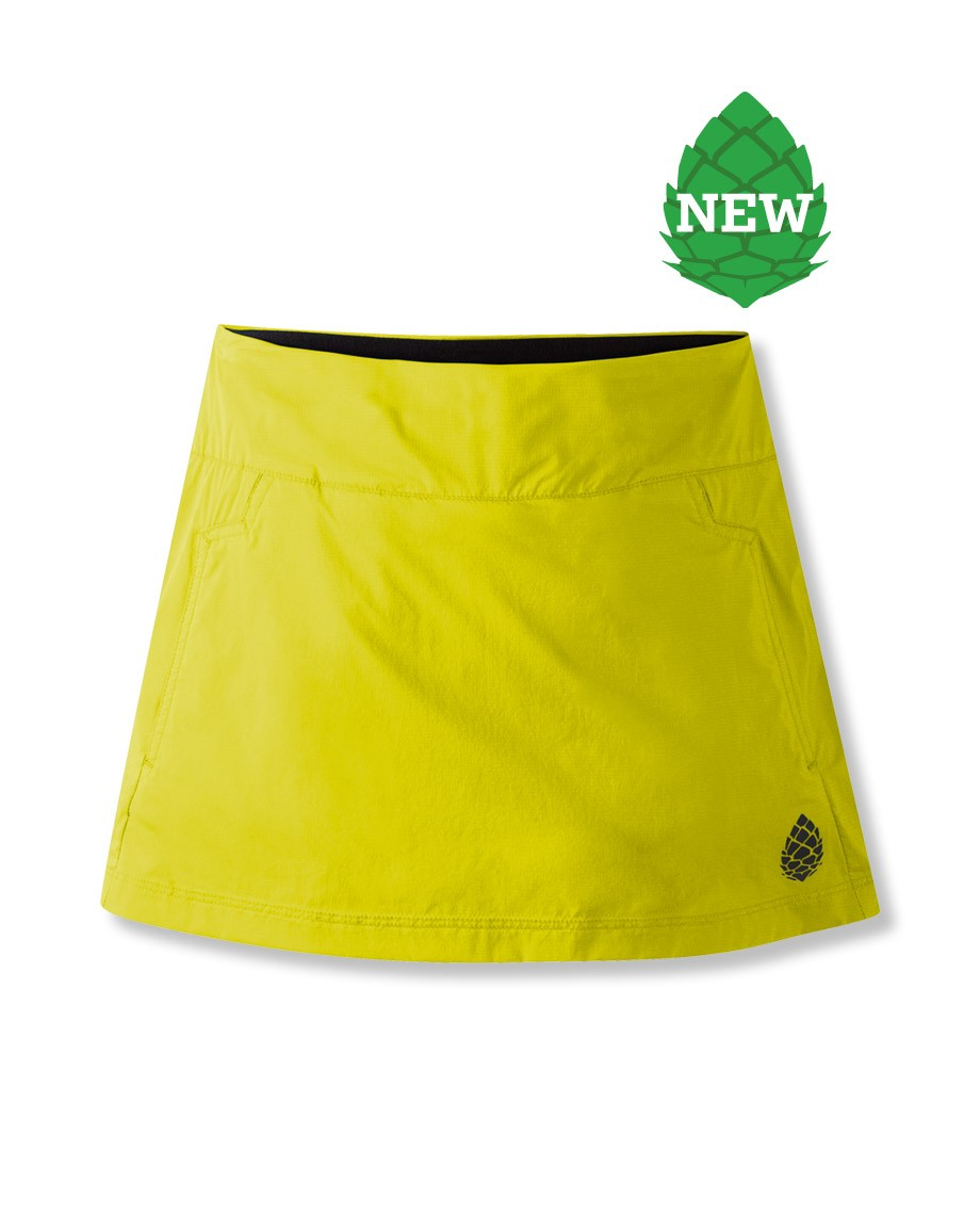 Camp and Hike Made with Stio(R) Meridian(TM) DWR-treated ripstop fabric and dynamic stretch jersey inner boy shorts, the skirt maximizes freedom of movement whether running, hiking or moving over broken terrain. The low profile waist hangs lightly on the hips, and works well under a pack's waist belt. Two front pockets and a third stash pocket in the rear can stow gel packs, small sundries and credit card for any apr es that might be at the end of your activity. - $20.00