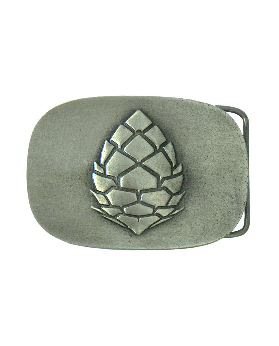 Fitness A classic and elegant buckle engraved with a two dimensional custom Stio Pinecone Logo. 100% Pewter finish. - $30.00