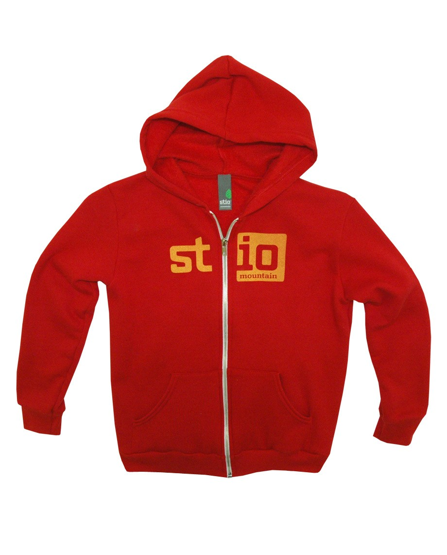 Fitness Our cotton-poly hoody with kangaroo pocket and metal zipper sports our blockout Stio logo. - $25.00