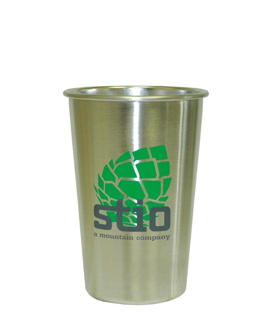 Fitness Modern pint glass is made from 18/8 food-grade stainless steel. - $16.00