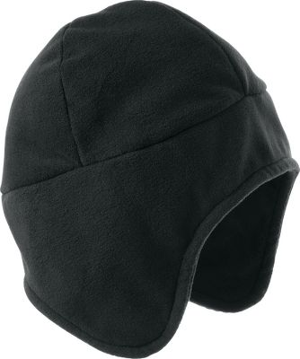 Outfit your tot with this fun fleece hat for cold-weather protection. High-density polyester fleece is wind-resistant and ultra warm to keep Jack Frost from nipping at little ears. Classic high-mountain styling sets the mood for a festive winter. Machine washable. One size fits most. Imported.Color: Black. - $4.99