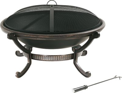 Camp and Hike The simple, timeless design of this large Crosley cast-iron fire pit will be the centerpiece of your backyard. Heavy-duty cast-iron construction with a copper-sealed finish stands up to years of sun, rain and snow. A mesh screen contains sparks, and the poker keeps your fire stoked. Quick, easy assembly. Dimensions: 40.5 dia. x 23H. Weight: 22 lbs. Type: Wood-Burning Fire Pits. - $199.99