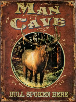 Camp and Hike Rustic, outdoor-inspired tin signs that bring your adventurous lifestyle indoors. Signs feature full-color graphics, a key-hole hook and sawtooth hanger. Clean with a damp cloth. Imported.Dimensions: 12H x 16W x 2.25D.Available: 12 Point Deer, Bull SpokenHere, Trespassers Eaten, Somethings Fishy, Hunters Camp, Fishermans Rules, Hunting Rules, True Catch. - $9.99