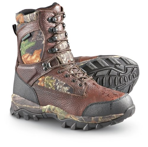 Hunting Men's Guide Gear Sasquatch Waterproof Hunting Boots with 600 gram Thinsulate Ultra Insulation Mossy Oak   $89.99