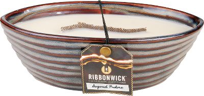 Imagine a combination of rich cream, sweet pecans and caramelized sugar with just the right hint of smoky vanilla a welcoming, soothing aroma. And now you can have it with just the strike of a match. The RibbonWick Sugared Praline Candle comes in a traditional pottery style with neutral colors and handmade details.Dimensions: 8.9L x 5.2W. - $24.88