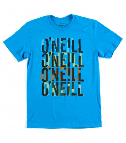 Surf O'Neill Billboard Tee.  50% Cotton / 50% Poly.  30 singles modern fit heather tee with softhand screenprint. - $15.99