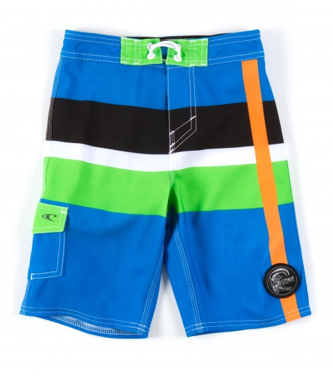 "Surf O'Neill Kids Good Ol' Days Boardshorts.  Epicstretch boardshort features 19"" outseam; superfly closure; welded side pocket with bonded flap and button cosure; circle surfer patch and screened logos. - $33.99"
