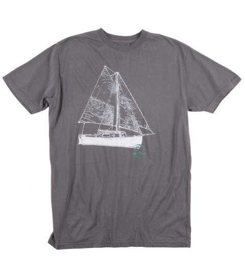 Surf Jack O'Neill Ahoy Tee.  100% Ringspun 30 singles cotton tee. Garment washed with soft hand screenprint. - $14.99