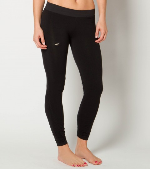 Surf O'Neill 365 Pull Seamless Legging.  Wicking technology pulls moisture from your skin; keeping you more comfortable and dry.  Fitted seamless heathered legging; shirring and jacquard details; Part of the Natalie Coughlin Collection -- ''Each piece is comfortable; sophisticated; functional; and meant to be worn all day long.'' - $51.99