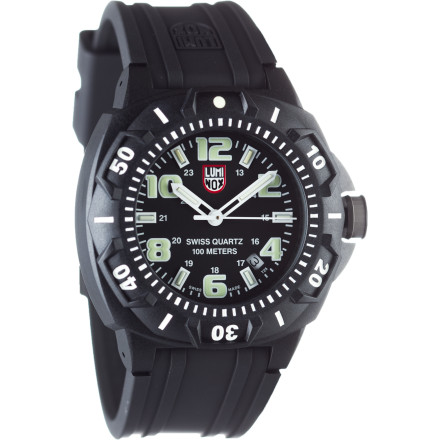 Camp and Hike The Luminox Sentry 43mm 0200 Series Watch delivers focused performance day and night for years to come. Rugged styling and top-flight components mean it could be the last watch you need to buy for a long, long time. It doesn't matter if you're wearing it to the office or on a weekend paintball excursion, this watch delivers both style and read-anywhere time keeping. - $250.00