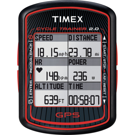 Camp and Hike An essential training companion, the Timex Cycle Trainer 2.0 Bike Computer with GPS and HRM offers performance and comfort with next-generation style. This innovative tool uses GPS to accuracy record and display data so you know you're in your target zone and can review it later at home on your PC or Mac. - $249.95