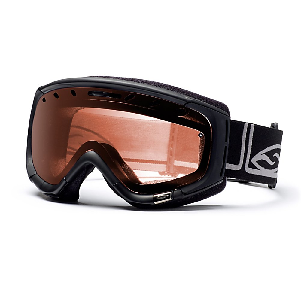 Ski Smith Phenom Goggles - Timeless style, uncompromising design, and superior technology come together in the Phenom. With a medium frame the Phenom is one of the most versatile and best fitting goggles available. Sticking to the best the Phenom uses a spherical Carbonic-X lens for a large field of vision, scratch resistance, and durability with TLT optics which tapers the lens towards the sides eliminating distortion and increasing peripheral vision. To make the most of your vision dual layer DriWix face foam and Vaporator lens technology partner up for a super comfortable fit and a strong thermal barrier to maximize fog prevention. So the Phenom is comfortable no matter what your headwear style is adjustable outriggers create a seamless fit over helmets, under helmets, over hats or whatever else you use to cover your head and a silicone backing to the strap makes sure it stays in place. You can even swap out the hop up components to customize your own style of Phenom's. For timeless style and a fantastic fit few goggles can keep up with the Phenom. Features: Interchangeable Hop Up Kits, Ultra-Wide Silicone Backed Strap, QuickFit Strap Adjustment With Clip Buckle, Dual Layer DriWix Face Foam, Helmet Compatible. Race: No, Category: Adult, OTG: No, Comes w/ Case: No, Fog Fan: No, Frame Size: Medium, Spherical Lens: Yes, Polarized: No, Photochromatic: No, Rubberized Strap: Yes, Helmet Compatible: Yes, Frame Size: Medium, Lens Shape: Spherical, Lens Coating: n/a, Has Fan: No, Model Year: 2012, Product ID - $59.95