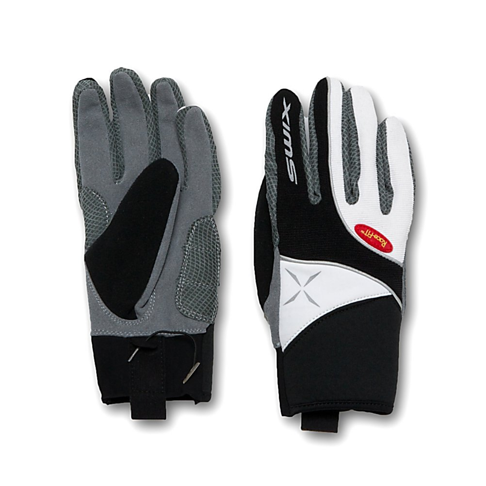 Ski Swix Stride Womens Gloves - The Swix Stride Womens Gloves are lightweight and durable. Featuring a Ribknit outershell with reflective piping and Lycra accents. Swix has used race fit technology to ensure an uncompromising comfort. The Chamude palm and fingers are highly durable; both the thumb and palm feature patch reinforcement. If your looking for a lightweight, comfortable and durable glove. The Swix Stride Womens Gloves are a solid choice. . Removable Liner: No, Material: Ribknit, Warranty: One Year, Battery Heated: No, Race: No, Type: Glove, Use: Ski/Snowboard, Wristguards: No, Outer Material: Ribknit and Lycra, Waterproof: No, Breathable: Yes, Cuff Style: Under the cuff, Down Filled: No, Touch Screen Capable: No, Model Year: 2013, Product ID: 285211, Pipe Glove: No - $36.95