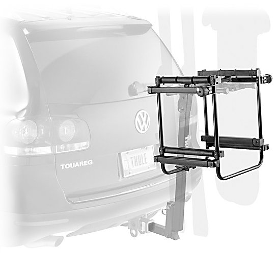 Snowboard Transform your summer bike carrier into a winter ski and snowboard carrier with the Thule 9033 Tram. It easily attaches to any existing Thule Hitch or Thule Spare Tire Rack for a convenient two-in-one system. The ultra soft rubber arms grip and hold skis and boards vertically without scratching surfaces. If you need to pull over for a rest or food you can safely lock down your skis and snowboards with the One-Key Locking Dials. Carry up to 6 pairs of skis or 4 snowboards on 2in class two receiver racks or 4 pairs of skis and 2 snowboards on 1 1/4in receivers and Thule Spare Tire carrier. With the Thule 9033 Tram you can safely and securely transport skis and snowboards to the mountain for the whole family.REQUIRES Thule Hitch or Spare Tire Carrier, including the Spare Me (963XTR), Vertex (9029, 9030, 9031), Apex (9025, 9026, 9027), Parkway (956, 957, 958)  Rubber Arms for hold and grip,  2 x One-Key Locking Dials,  Carries up to 6 Pairs of Skis or 4 Snowboards (Class 2 Hitches),  Carries up to 4 Pair of Skis or 2 Snowboards (Class 1 Hitches/Spare Tire Rack),  GTIN: 0091021987371, Model Number: 9033TRAM, Special Order: This is a Special Order item, will be shipped from the manufacturer, and is not stocked in our warehouse. This item does not qualify for our Price Matching Policy. Order processing time may vary., Shipping Exclusion: This item is only available for shipment by UPS to the lower 48 United States. APO, FPO, PO BOX, Hawaii, and Alaska shipments may not be possible for this item. (Please call prior to purchase.), Christmas Delivery: This is a Special Order item and is not guaranteed for Christmas delivery., Shipping Restriction: This item is not available for shipment outside of the United States., Product ID: 292156, Winter Rack Type: Ski and Snowboard, Mount Type: Hitch, Snowboard Load Capacity: Up to 4 Snowboards, Ski Load Capacity: Up to 6 Skis, Warranty: Limited Lifetime - $279.95