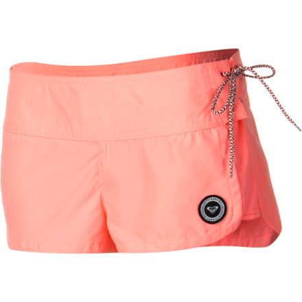 Surf The tide is rolling in and the swells are looking prime. Head down to the beach in the Roxy Hi Tide Women's Board Short and get it while it's good. The SuperSuede fabric is super-stretchy for freedom of movement while you're ripping the best waves of the day. - $42.00