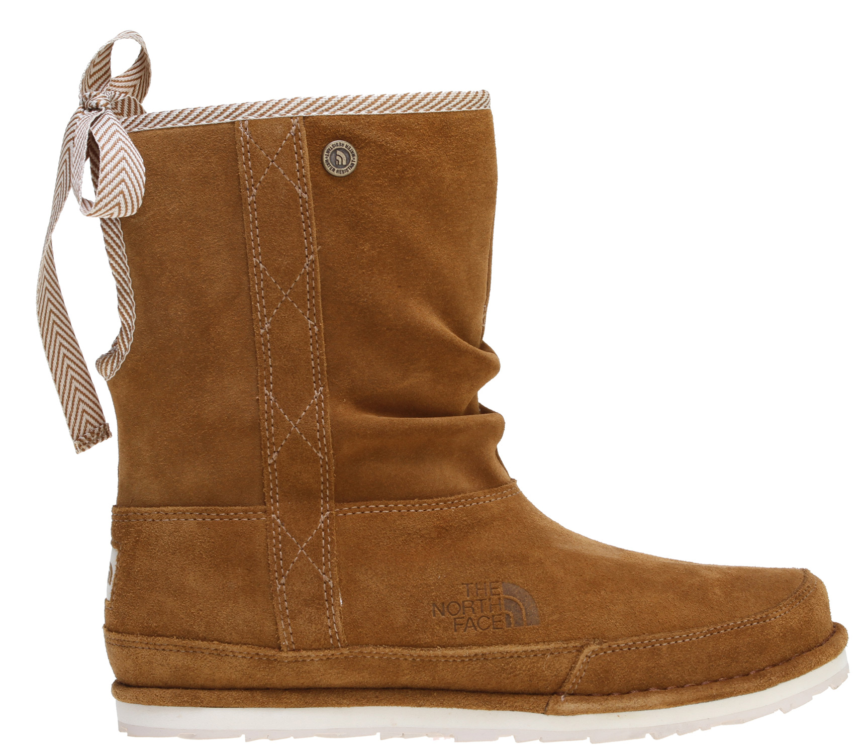 Pull on the warmth and comfort this winter with this new low-cut winter boot. Waterproof, durable suede upper pairs with ample insulation to combat winter's chill. Adjustable cuff can be cinched down (via tie at back) or worn upright. Keyhole cuff detail at back.Key Features of The North Face Millennial Short Boots: [UPPER] Durable, waterproof suede upper 200 g Heatseeker insulation Waterproof construction Pull-on construction for easy on/off Adjustable cuff height can be worn up or down Combination comfortable quilted nylon and brushed tricot lining Northotic footbed [BOTTOM] Die-cut EVA midsole Durable, 40% recycled rubber outsole - $76.95