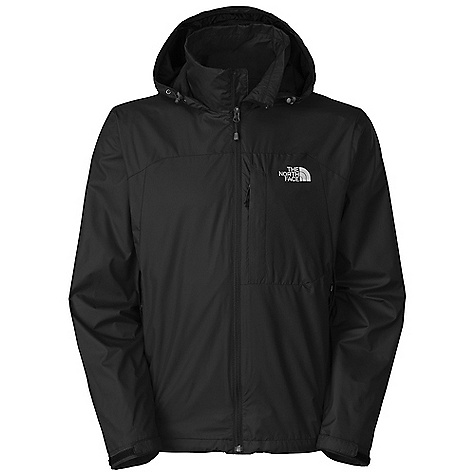 Free Shipping. The North Face Men's Geosphere Jacket DECENT FEATURES of The North Face Men's Geosphere Jacket Mesh lined Attached, fully adjustable, stowable hood Brushed collar lining Two secure-zip hand pockets Stowable in hand pocket Self fabric Velcro adjustable cuffs Hem cinch-cord adjustment in pockets The SPECS Average Weight: 17 oz / 480 g Center Back Length: 28.5in. 50D 80 g/m2 (2.82 oz/yd2) 60% recycled polyester, 40% polyester ripstop with DWR This product can only be shipped within the United States. Please don't hate us. - $79.95