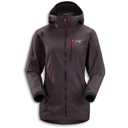 Ski Mountain weather can change for the worst too quickly to be avoided. Your best defense is the highly breathable and mobile Arc'teryx Women's Gamma SL Hybrid Hooded Softshell Jacket, which ensures a dry and comfortable summit attempt, ski tour, or quick escape from an approaching alpine storm. - $268.95