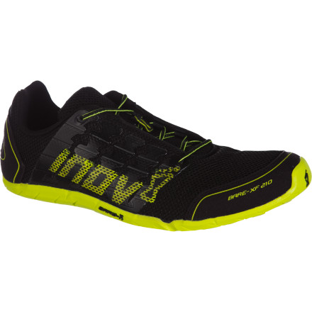 Fitness Lift weights, run laps, or cross train while wearing the Men's Bare-XF 210 Running Shoe from Inov8 and get your toes closer to the earth. This fitness shoe has a 0mm heel-to-forefoot offset, no midsole, and a thin 3mm outsole so your foot can adapt to the ground beneath it. Your foot wants to work its natural, bio-mechanical magic, so lace up this minimalist shoe and let it. - $89.96