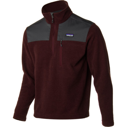 Entertainment Don't let the cold bully you into wearing that heinous sweater you received for Christmas last year; simply pull on the Patagonia Men's Finmark 1/4-Zip Fleece Jacket. The polyester wool blend shields you from chilly winds while the plush fleece lining wraps you in soft warmth. - $125.30