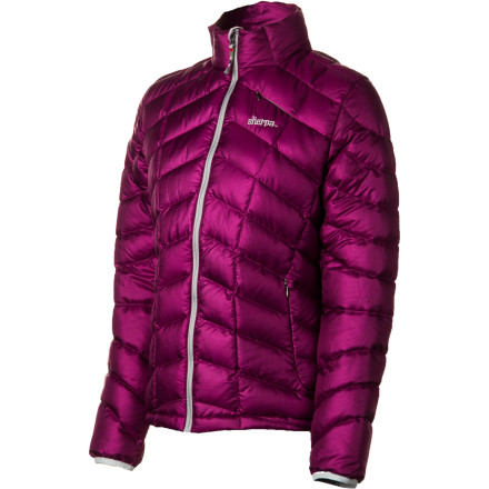 Fitness The soft and light yet durable Sherpa Adventure Gear Women's Pangboche Down Sweater boasts oodles of 800-fill power goose down for cozy three-season warmth. Its strong, Earth-friendly recycled polyester mini-grid ripstop shell fends off wind and moisture and breathes for cool, dry comfort. So compressible and light, it easily layers under a shell or feels luxuriously lofty on its own. It even has a handy interior pocket that holds your audio device, because as functional as this puffy is it's all about fun, too. - $133.00