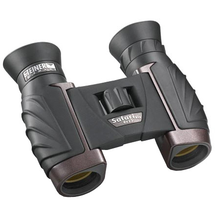 Camp and Hike Whether you're on a birding expedition to the Costa Rican cloud forest or a casual day hike in the woods out back, the Steiner 8x22 Safari Pro Binoculars give you crystal clear optics with 100-percent UV protection. These lightweight and compact binoculars fold up small enough to fit in your pocket, and a large center focus wheel allows for quick adjustment on that colorful Quetzal or brown thing off in the distance. The extended eye relief allows higher brightness and works with your eyewear. - $124.95