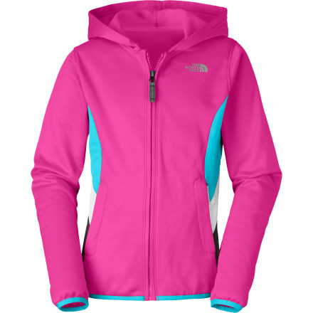 The North Face Girls' Surgent Full-Zip Hoodie fends off chills so she can join you on evening jogs or early-morning runs without worrying about the cold. It doesn't matter if she's training for cross-country tryouts or outrunning you on the trail, this hoodie will keep her feeling good. - $54.95
