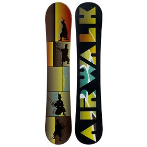 Snowboard Airwalk Samurai Snowboard - The Airwalk Samurai Yellow Snowboard is a fun and forgiving board perfect first board for any entry level rider or beginner looking to beef up their skills so they can tackle the more challenging terrain. Its camber profile has a good edge hold to help you get the turns down and there's a little bit of a pop to get you going on learning the tricks. Its soft flex makes this board fun for any new rider looking to gain the confidence and skills to become an excellent rider. . Flex: Very Soft, Core Material: Wood, Construction Type: Cap Construction, Hole Pattern: Standard 4 Hole, Magnatraction: No, Base Material: Extruded P-tex, Warranty: One Year, Skill Range: Beginner - Advanced Intermediate, Model Number: 341 SB 12, Skill Level: Beginner, Gender: Mens, Product ID: 297350, Board Width: Regular, Pipe Oriented: No, Shape: Directional, Snowboard Best Use: All-Mountain, Rocker Profile: Camber - $129.92