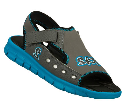 Surf Sporty fun in the sun comes with the SKECHERS Synergize - Dripz sandal.  Soft flexible neoprene synthetic upper in a sporty beach-ready sandal with stitching and overlay accents. - $30.00