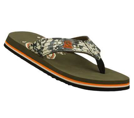 Surf Make every day a beach day with the SKECHERS Scurried - Sandshark sandal.  Smooth faux leather upper in a flip flop casual thong sandal with stitching accents. - $22.00