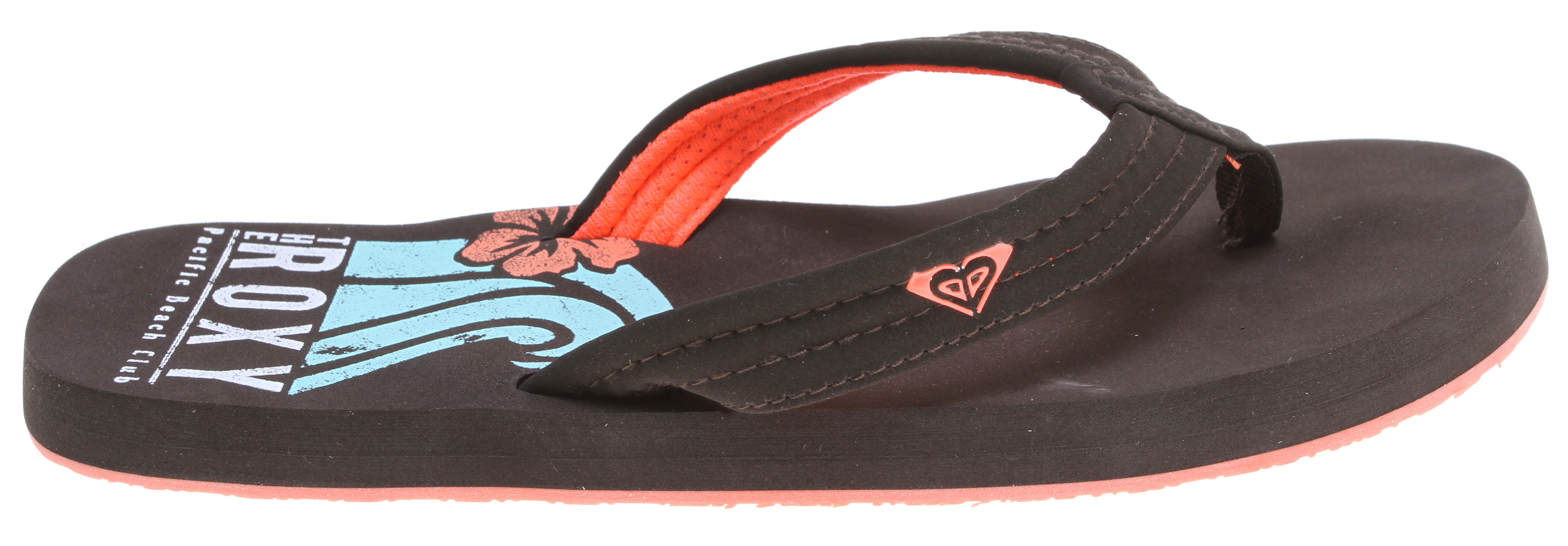 Surf Low tide, high tide, and everything in between! Our Low Tide Sandals are perfect for beach days and trips to the pool! Designed from water-friendly synthetic nubuck, we added a soft poly-web lining and an 'active foam' footbed and arch support. Sweet and sporty, just how we love our cool flip flops! Key Features of the Roxy Low Tide Sandals:  Soft gel printing  Rubber outsole  Imported. - $17.95