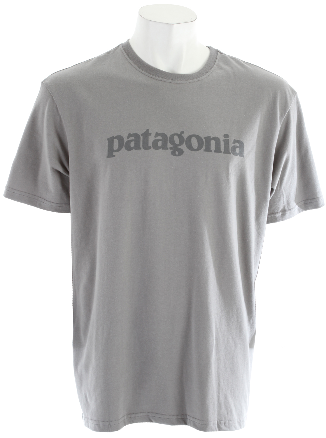 Plain and simple sums up this 100% organic cotton T-shirt. The Text Logo T-Shirt tells the story in a word. Printed with PVC- and phthalate-free inks on our ultrasoft, ringspun 100% organic cotton jersey. Durable, taped shoulder seams minimize chafing.Key Features of the Patagonia Text Logo T-Shirt: Screen-print inks are PVC- and phthalate-free Taped shoulder seams for comfort 20 singles supersoft ringspun organic cotton Artist: Patagonia Logowear Crew 5.4-oz 100% organic cotton 195 g (6.9 oz) Made in USA. - $24.95