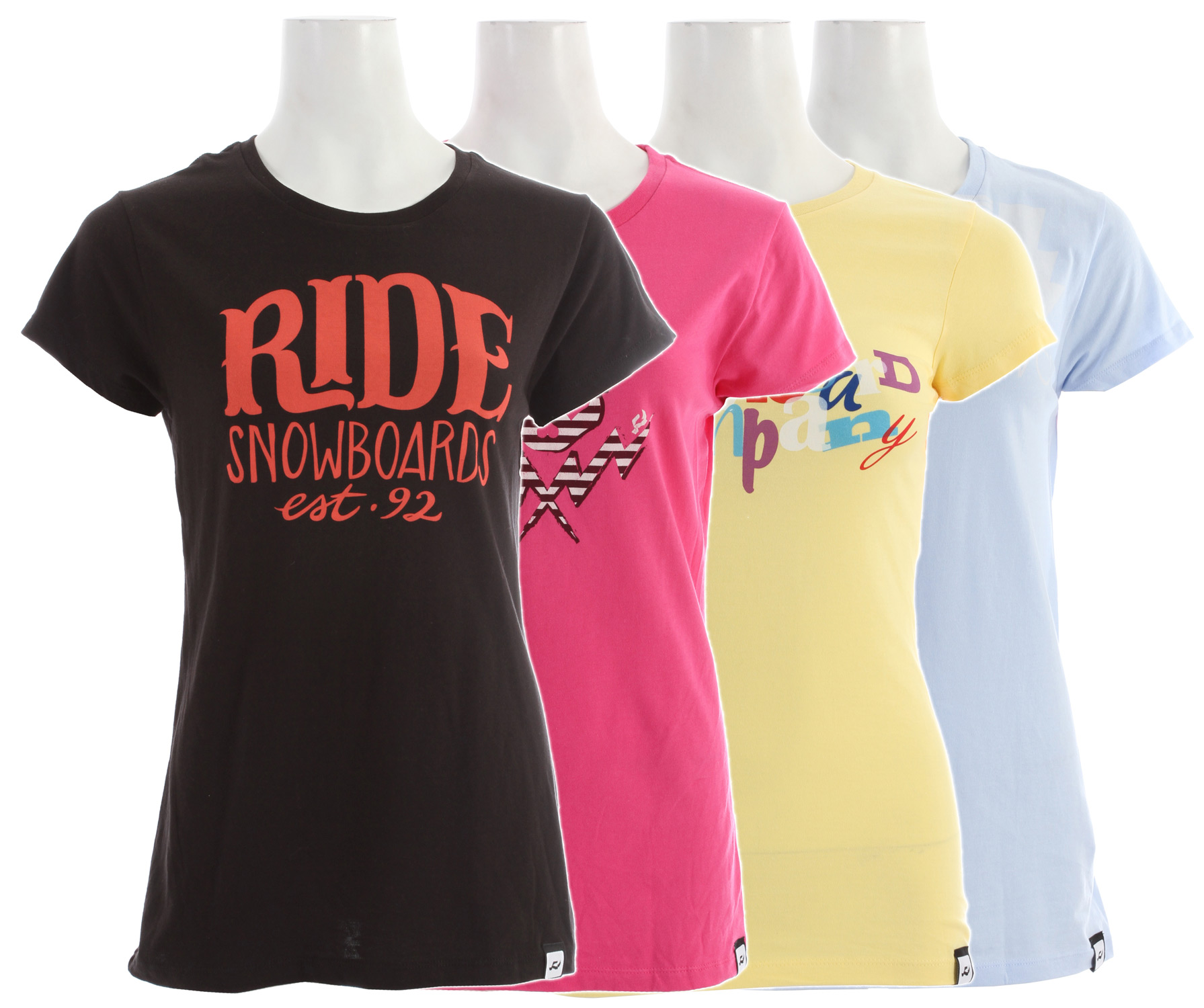 "The Ride Logo 4 Pack T-Shirt has you set for the whole week. Get the shirt you know you want in all it's different shades. Standard ""Ride Snowboard"" logo with the EST. 92 right on the front. It's unique and comfortable feel will makes its way into you home away from home. With proven quality and proven style, you will know why you're getting four!Key Features of the Ride Logo 4 Pack T-Shirt:  Short Sleeve  Silkscreen  100% Cotton - $52.95"