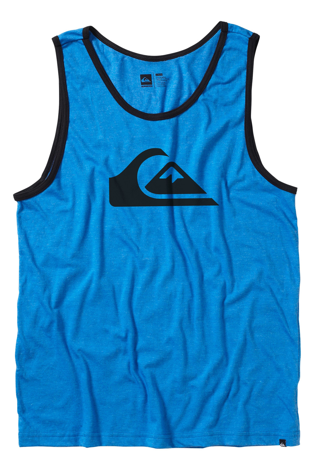 Surf Key Features of the Quiksilver Mountain Wave Tank: 22 single s ringspun jersey. Contrast ribbed binding. SOLIDS: 100% cotton. HEATHERS: 50% cotton, 50% polyester. Slim fit. - $13.95