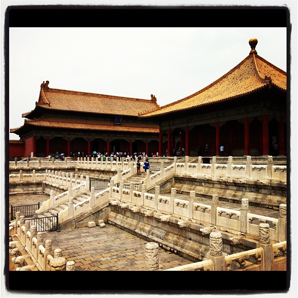Entertainment Today we're out exploring the sprawling Forbidden City in Beijing! #wjchina  http://instagr.am/p/LSOX1cLFf3/