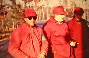 Hunting In the late 1960s, red coats were still common attire for deer hunters. (Stump Sitters photo)