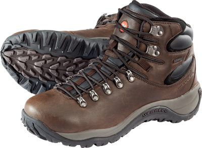 Camp and Hike Full-grain leather uppers and waterproof, breathable construction make the Merrell Reflex Waterproof All-Leather Mid Hikers ideal for any adventure. The midhigh-top design provides ankle support with minimal weight, giving you the toughness of hikers with the feel of running shoes. Air Cushion midsoles eliminate fatigue, keeping you comfortable throughout the day. 4.5mm anatomical footbeds, injection-molded shank supports and EVA footframes offer support during the most demanding hikes. Trail-gripping Reflex outsoles deliver superior traction on any terrain, letting you tackle your daily adventures in confidence. Cabelas exclusive. Imported. Ht: 6. Avg. wt: 2.6 lbs./pair. Mens sizes: 8-14 medium width. Half sizes to 12. Colors: Brown, Black. Size: 10. Color: Brown. Gender: Male. Age Group: Adult. Material: Leather. Type: Boots. - $89.99