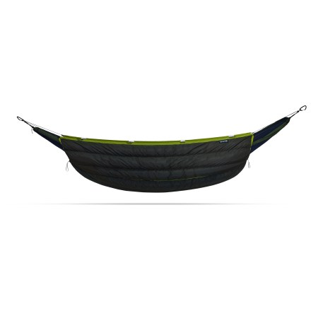 Camp and Hike Now there's no excuse for not using your hammock all year round. The ENO Blaze hammock underquilt is stuffed with quality 750-fill-power duck down insulation to keep you warm down to 30 - 40degF. - $299.95