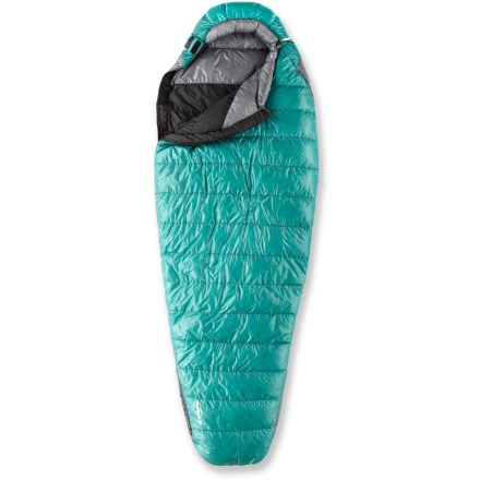 Camp and Hike The women's Mountain Hardwear Phantasia 32 sleeping bag with Q.Shield(TM) DOWN 800-fill goose down is big on warmth while modest on weight and bulkiness for your spring, summer and fall adventures. - $299.93