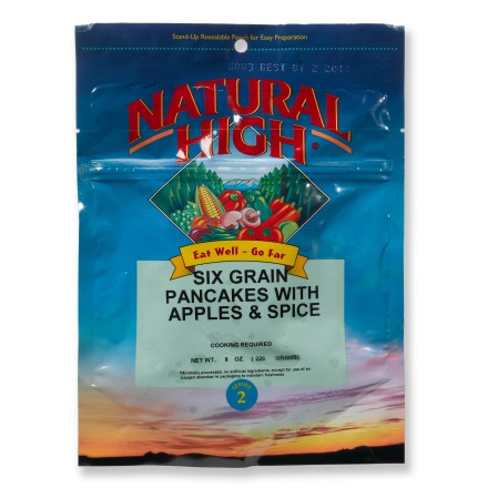 Camp and Hike These hearty six-grain pancakes with apples and spice will hit the spot on those cold mornings in the backcountry. Can be mixed right in its foil pouch-cook as usual on a griddle or skillet, add apple and spice topping prior to serving. Nutrition facts displayed here and on packaging may differ; information on packaging reflects actual contents. *Discount will be applied when you check out. Offer not valid for sale-price items ending in $._3 or $._9. - $4.00